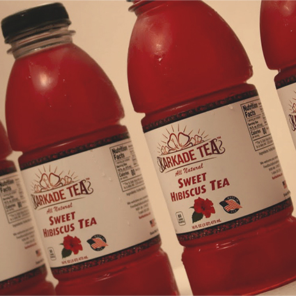 Bottles of our hibiscus sweet tea